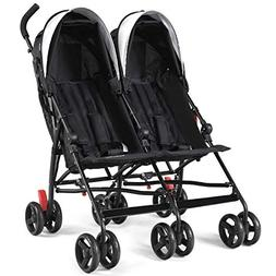 HONEY JOY Double Light-Weight Stroller, Travel Foldable Desi