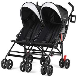 BABY JOY Double Light-Weight Stroller, Travel Foldable Desig