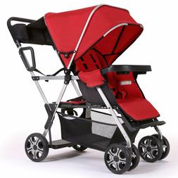Double Stroller Convenience Urban Twin Carriage Stroller - C
