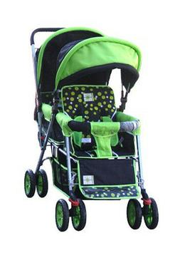 double stroller green baby strollers 2 seats