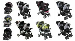 Baby Trend Double Stroller Sit N Stand with Baby Car Seat Tr
