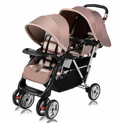 Costzon Double Stroller Twin Tandem Baby Stroller with Adjus