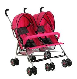 Dream On Me Double Twin Stroller Pink=