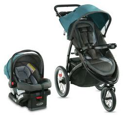 Graco FastAction Jogger LX Travel System Stroller w/ SnugRid