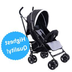 Foldable Baby Stroller Infant Pushchair 5-Point Safety Harne