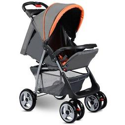 foldable stroller buggy pushchair gray