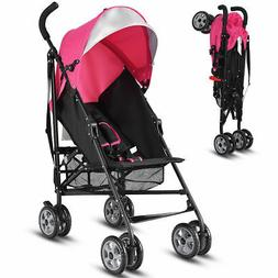 Folding Lightweight Baby Toddler Umbrella Travel Stroller w/