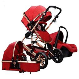 Folding Baby Stroller Travel System Pram Two-Way Shockproof