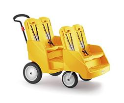 Foundations Gaggle 4 Multi-Passenger Buggy Stroller, Yellow