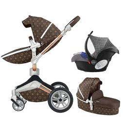 Hot mom 3 in 1 Baby Stroller 360 high view Bassinet carriage