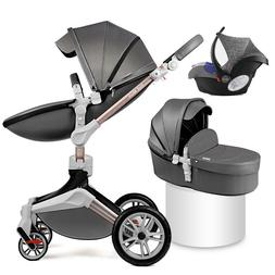 Hot mom 3 in 1 Baby Stroller 360 high view carriage travel P