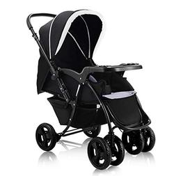 Two Way Stroller, Baby Foldable Conversable Pushchair w/ 5-