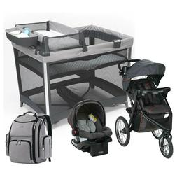Graco Jogger Stroller with Car Seat Travel System  Playard B