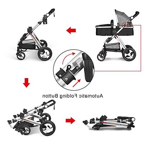 Infant Newborn and Besrey Luxury Baby Carriage,