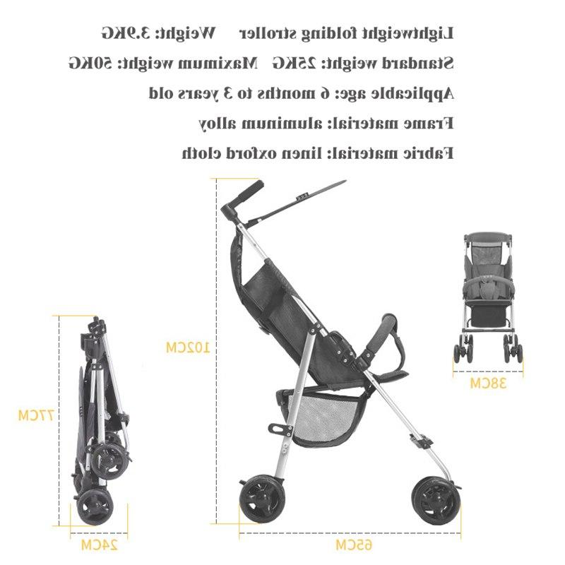 2019 latest folding small children's trolley <font><b>baby</b></font> 3.9KG
