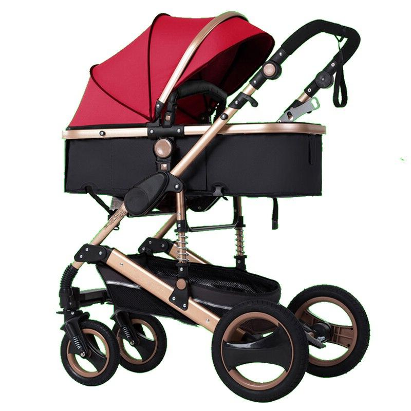2019 new <font><b>baby</b></font> high landscape 3 to 1 <font><b>baby</b></font> <font><b>stroller</b></font> double faced free in four seasons Russia