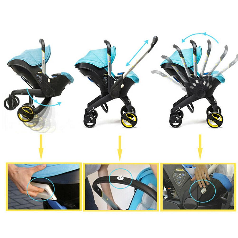 3/4 Stroller Safety Car Seat With Newborn Portable