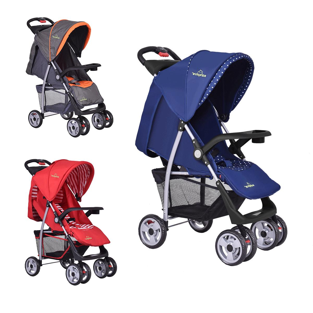 3 colors foldable baby kids travel stroller