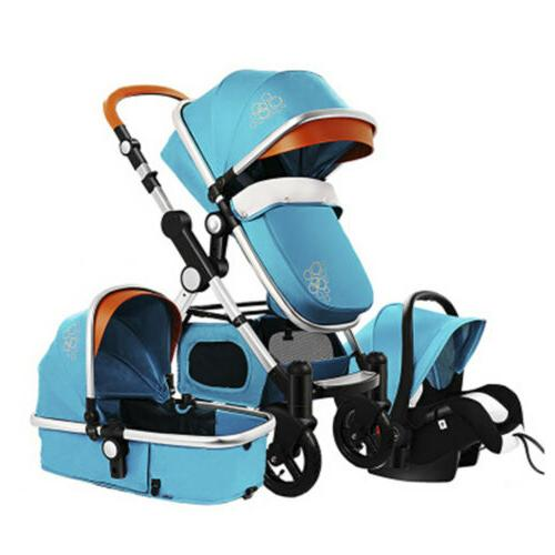 3 in 1 foldable baby stroller pram