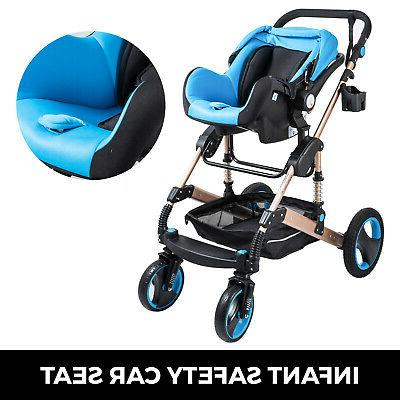 3 in Foldable Baby View Pushchair Car Seat