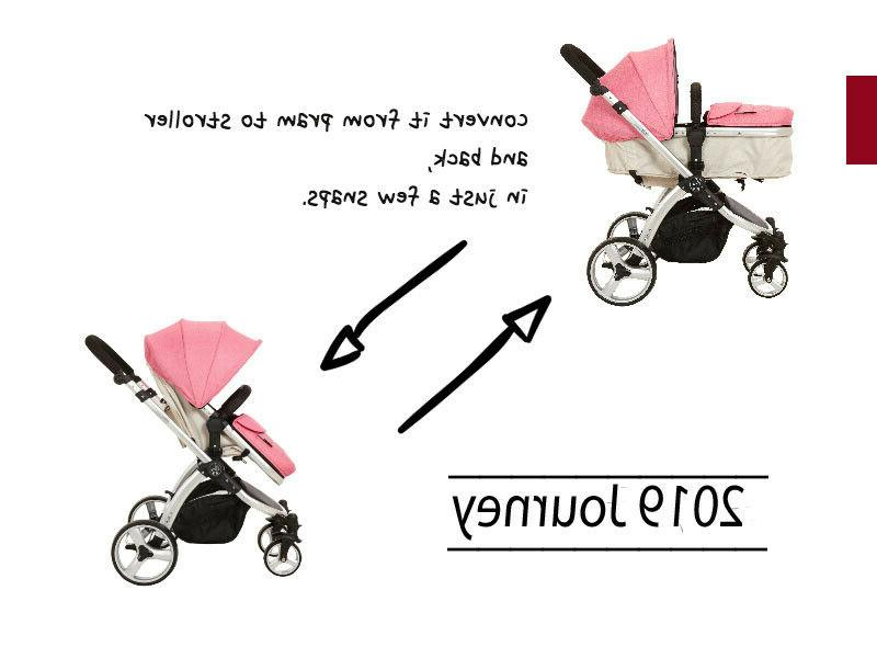 3 In1 Foldable Baby Kids Infant Pushchair Buggy