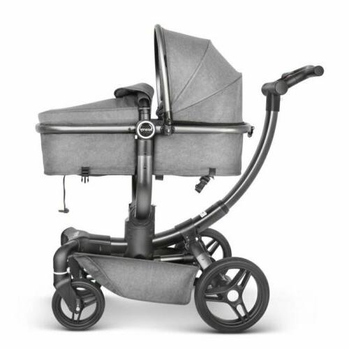 360o rotation strollers shock absorption infant push