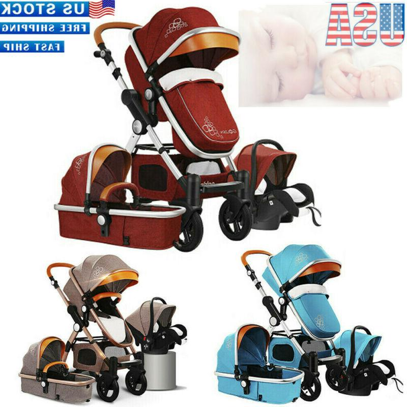 3/4 Baby Safety Car Stroller With Accesories