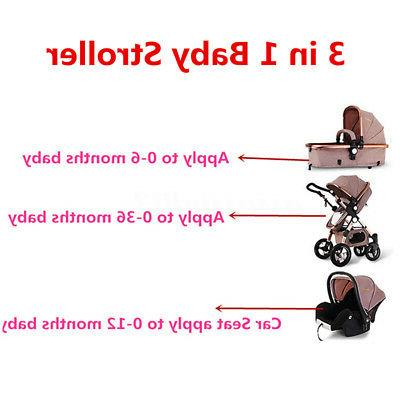 3 in1 Luxury Folding Newborn High View Car Seat