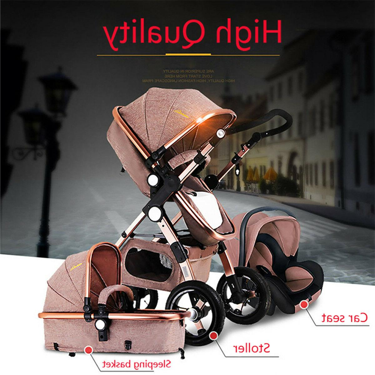 3 in1 baby stroller luxury folding carriage