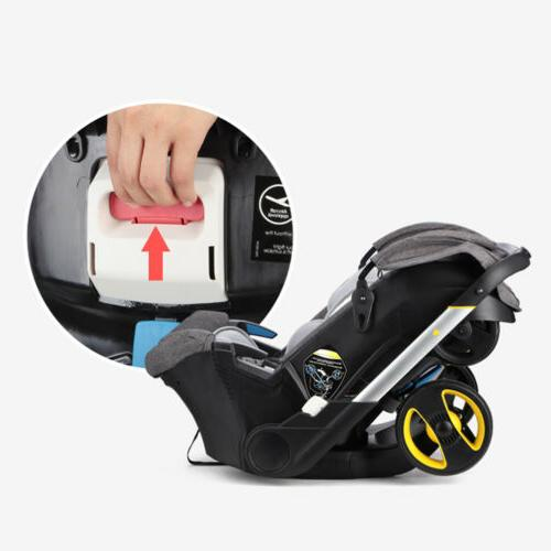 4in1Portable Newborn Baby Cars With Accesories Gray