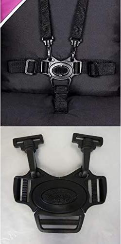 New 5 Point Harness Buckle with Hook Clips, Replacement Part