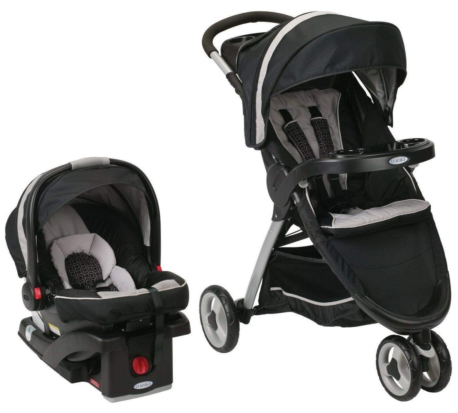 Graco Fastaction Fold Sport Click Connect Travel System, Pie