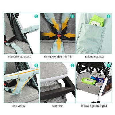 Airplane Baby Step Fold Lightweight Convertible Baby Carriage N6D6