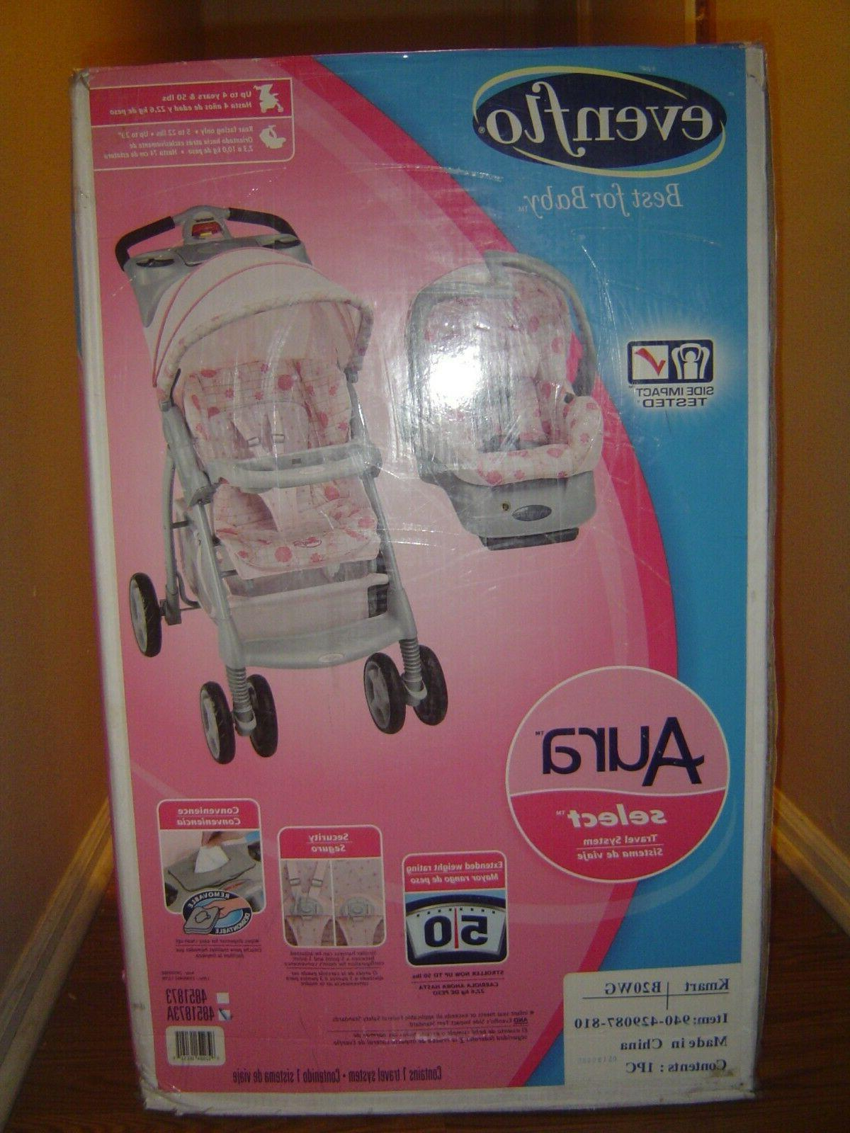 aura select sweet pea baby travel system