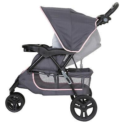 Car and Stroller Combo Kid System Pink New