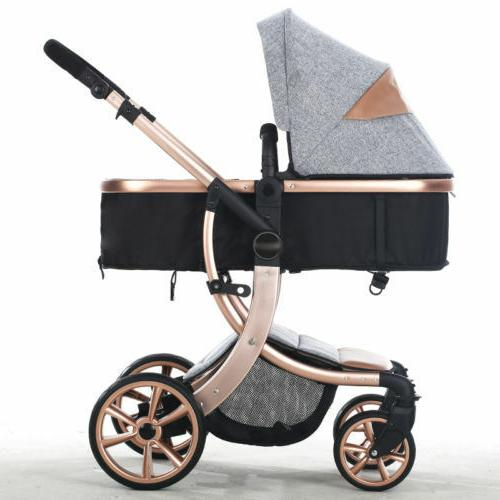 Baby Foldable Safe Pushchair Infant Single Seat