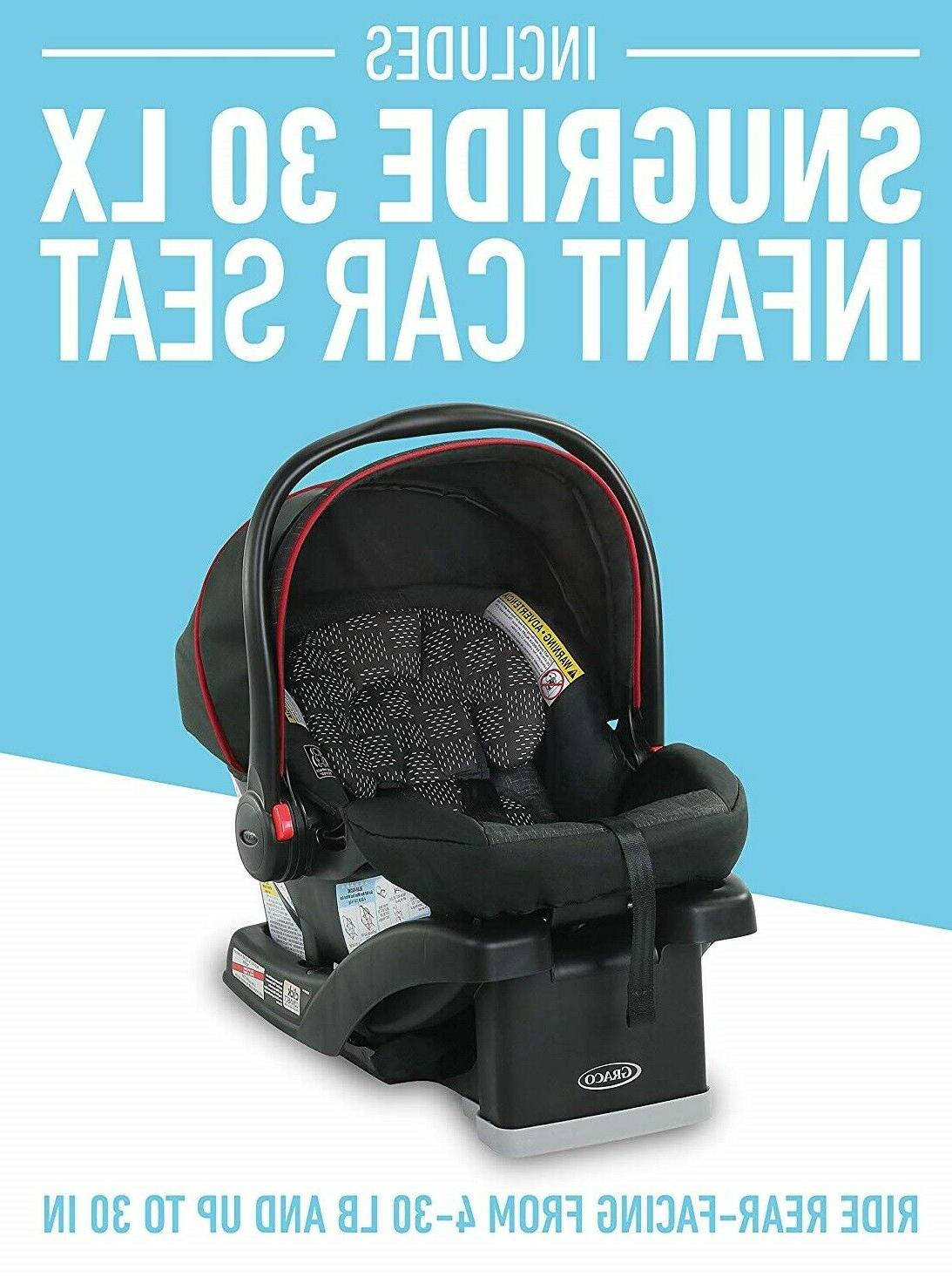 Graco FastAction Travel Stroller SnugRide 30 LX Car Seat