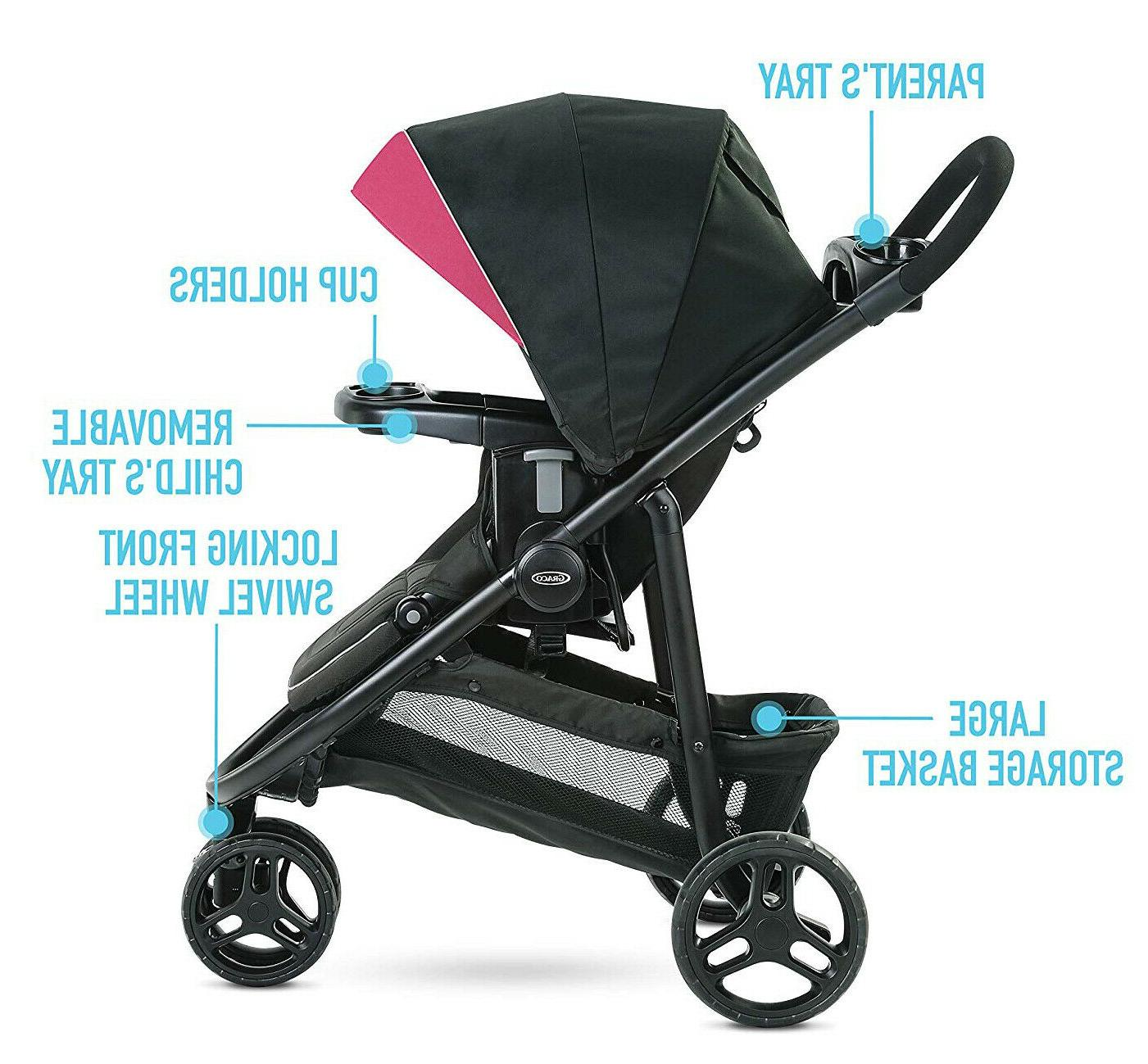 Graco Baby Lite Stroller with Infant Car Seat Arbis
