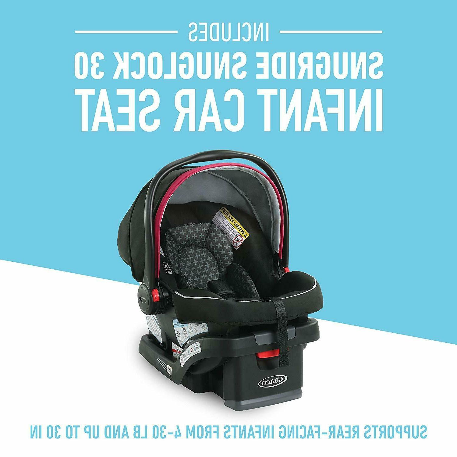 Graco Baby Modes 3 Lite DLX Travel Stroller with Infant Car Seat Arbis