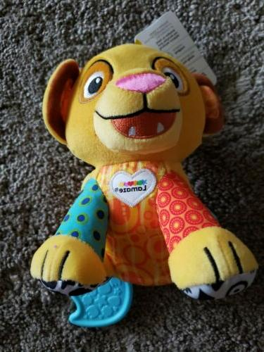 baby simba clip on toy by lamaze