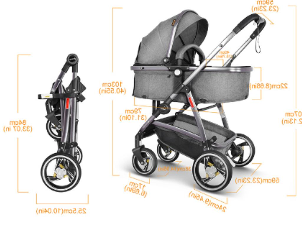 Baby Stroller 2 in 1 for Baby Car