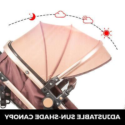 Luxury Baby in 1 Foldable Pushchair Bassinet
