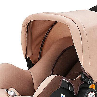 Baby 3 In 1 Carriage Pram Foldable & Car Seat