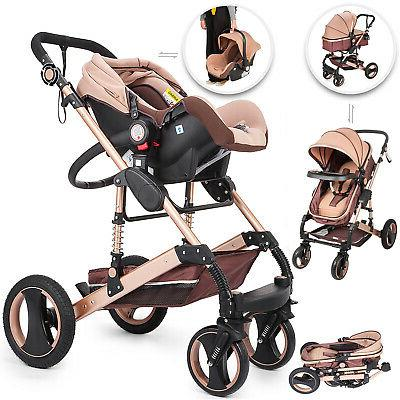baby stroller 3 in 1 carriage high