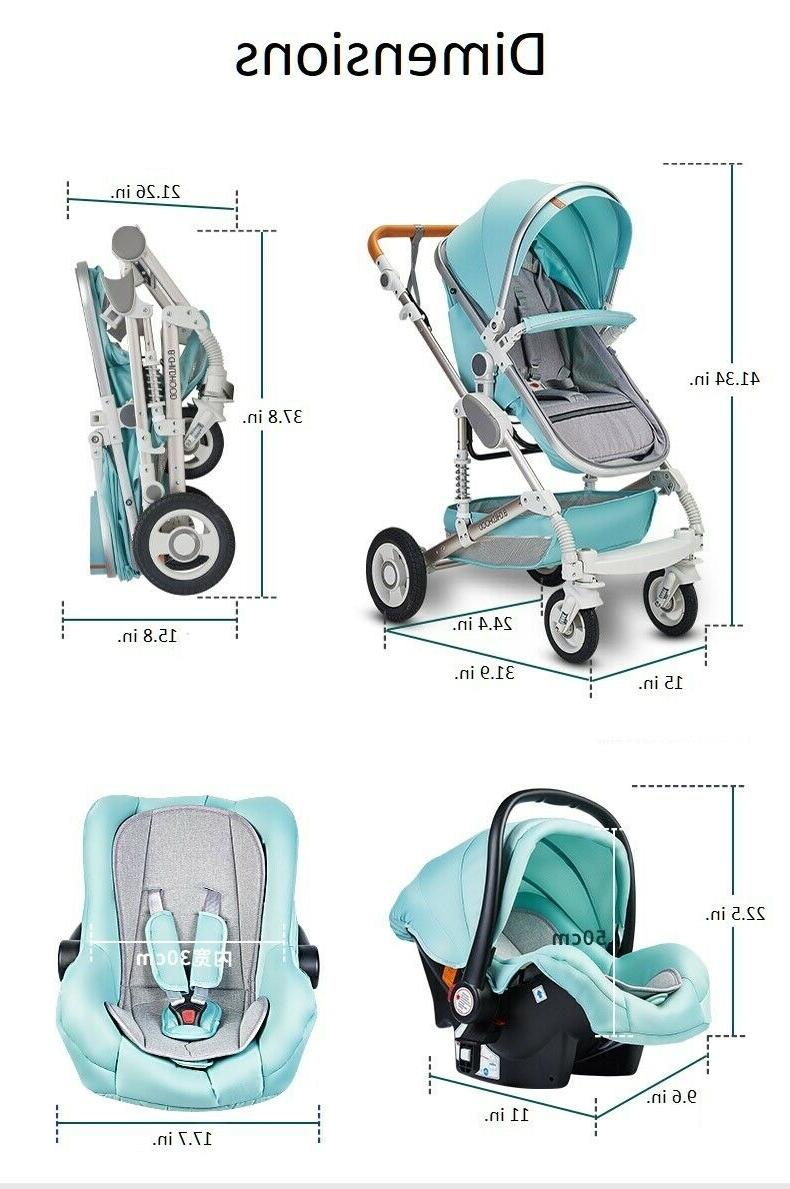 Baby Stroller 3 1 Newborn Infant Bassinet Travel with Seat