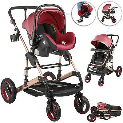 3 in 1 luxury baby stroller pushchair