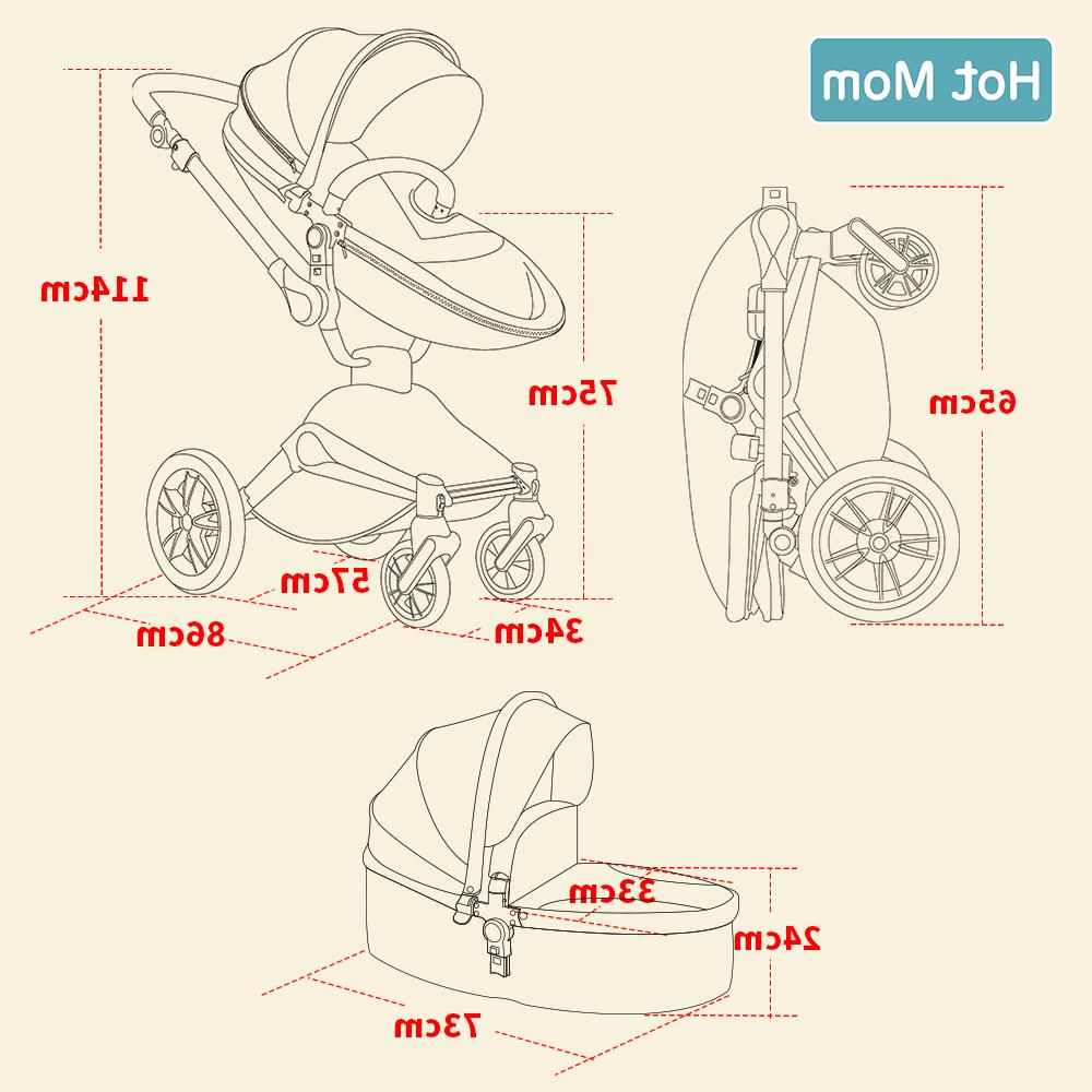 Hot 3 in 1 system with <font><b>bassinet</b></font> and car Function,Luxury Pram F023