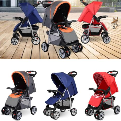 baby stroller foldable infant pushchair reclining seat