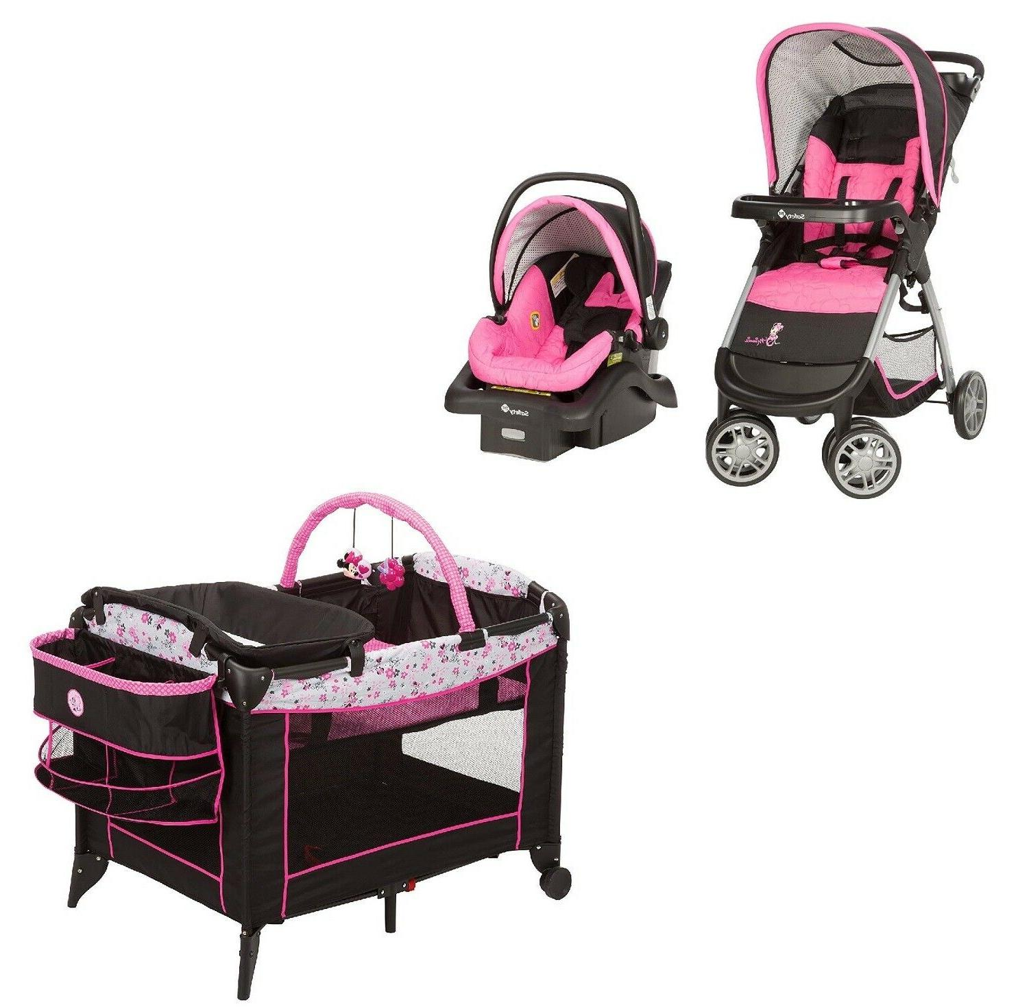 baby stroller with car seat and base