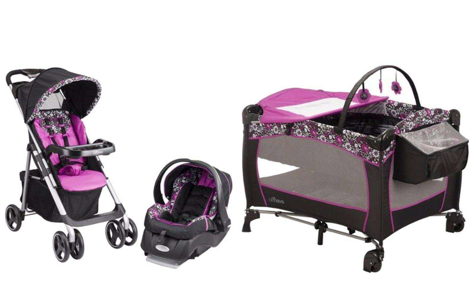baby stroller with car seat infant playard